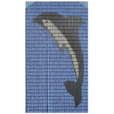 Vliegengordijn op maat: dolfijn (kant en klaar)